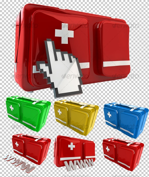 First Aid Kit for You and Your Web - Objects 3D Renders