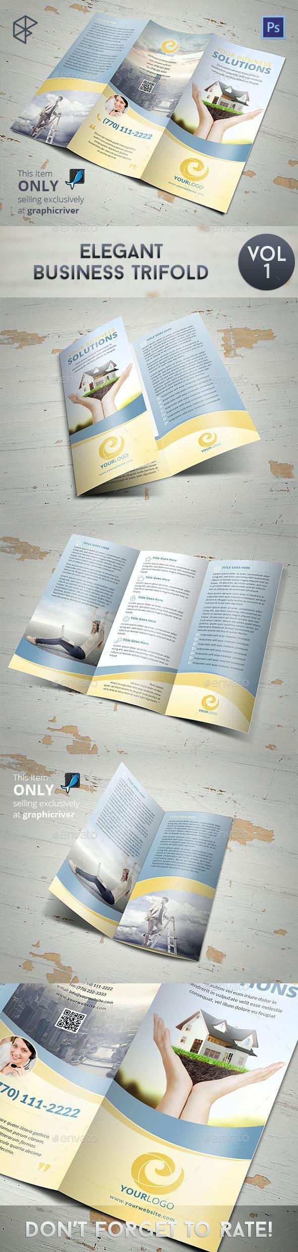 Elegant Business Trifold - Corporate Brochures