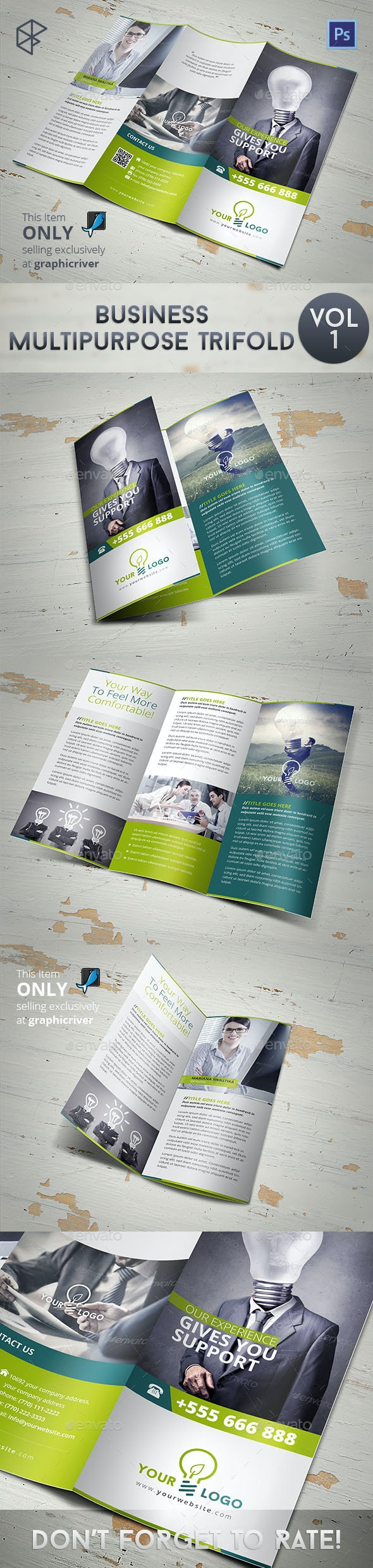 Business Multipurpose Trifold - Corporate Brochures