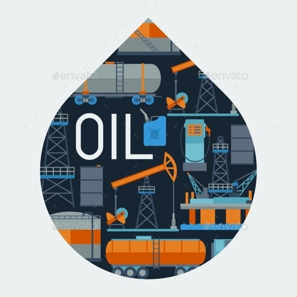 Industrial Background Design with Oil