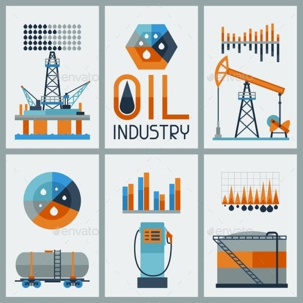 Industrial Infographic Design with Oil