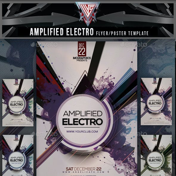 Amplified Electro Flyer Template