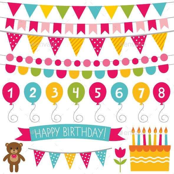 Kid Birthday Party Decoration Set - Birthdays Seasons/Holidays