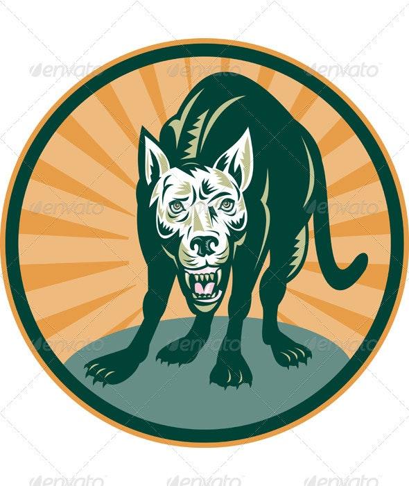 Angry Dog Barking Growliing Attacking - Animals Characters