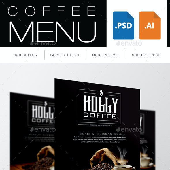Coffee Menu Restaurant Flyers