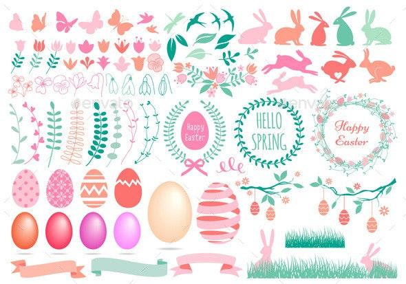 Happy Easter Set - Miscellaneous Seasons/Holidays
