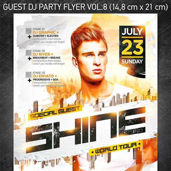 Guest DJ Party Flyer vol.8