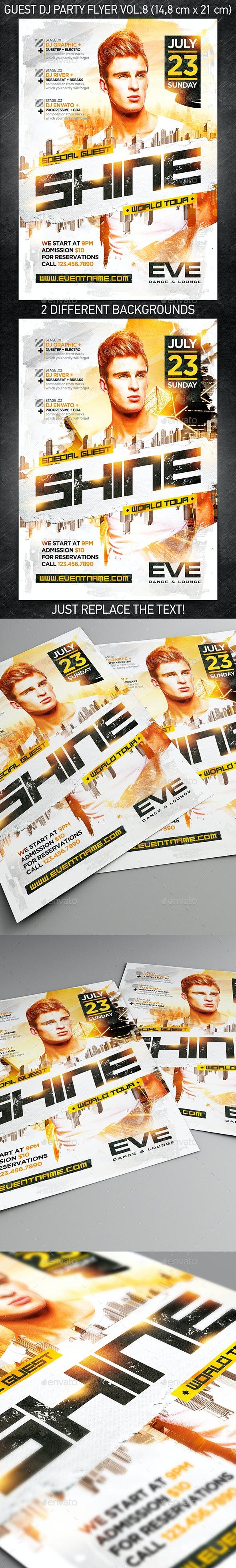 Guest DJ Party Flyer vol.8 - Events Flyers
