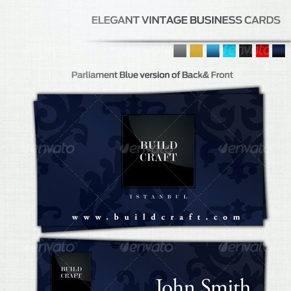 Vintage Business Card (7 Colors)