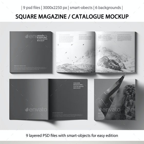 Square Magazine / Catalogue Mockup