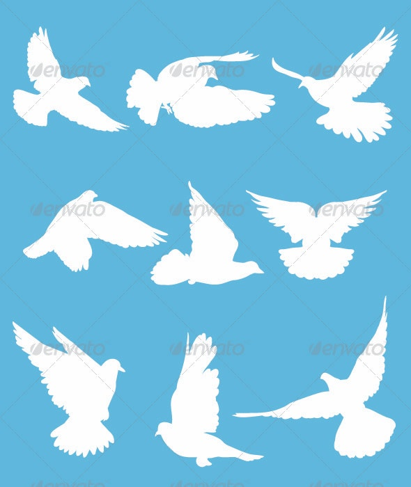 White Doves - Animals Characters