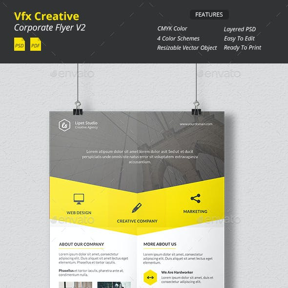 Vfx - Creative Corporate Flyer v2