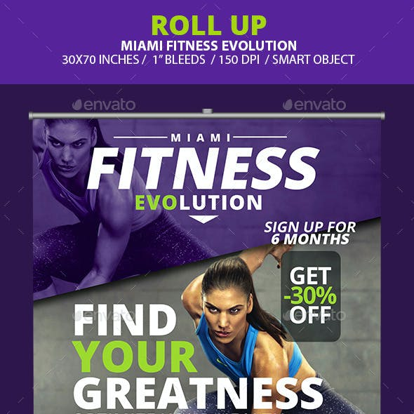 Fitness Evolution Roll-up Banners