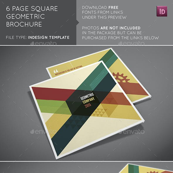 6 Page Square Geometric Brochure