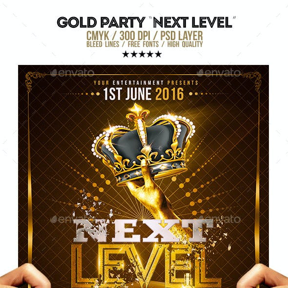 Gold Party | Next Level Template