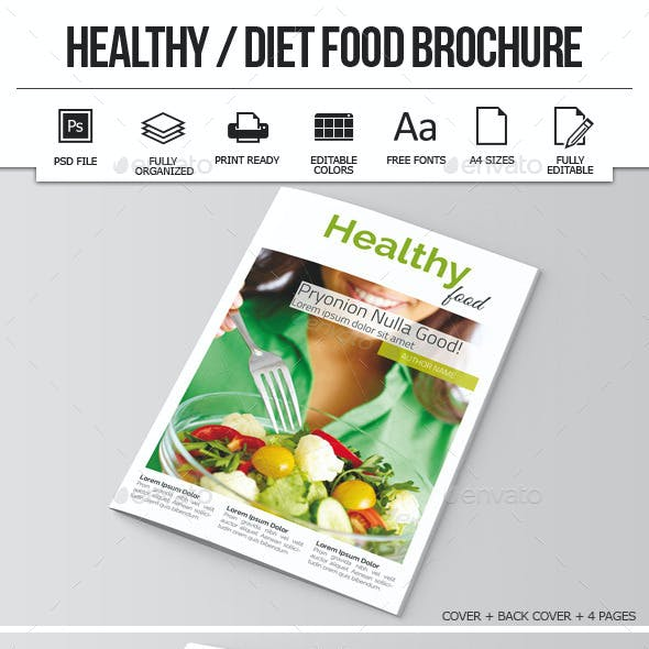 Healthy / Diet Food Brochure Template