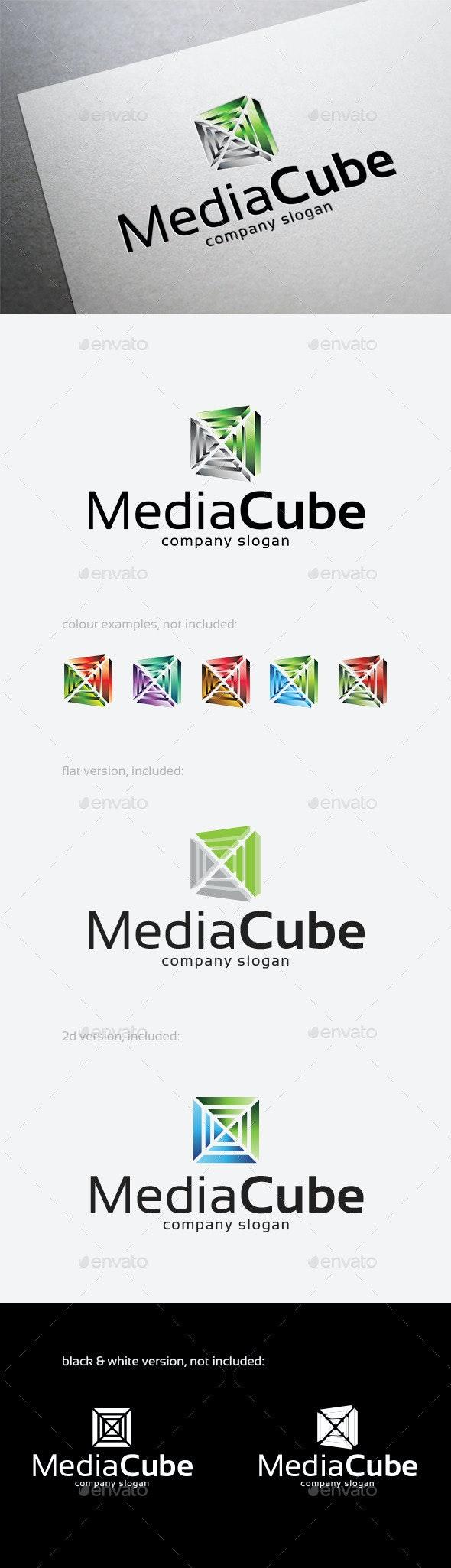 Media Cube Logo - Abstract Logo Templates