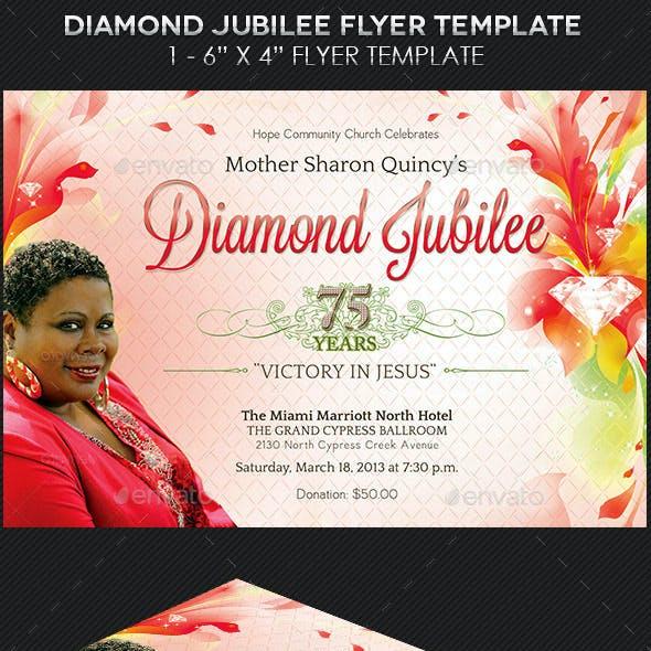 Diamond Jubilee Flyer Template