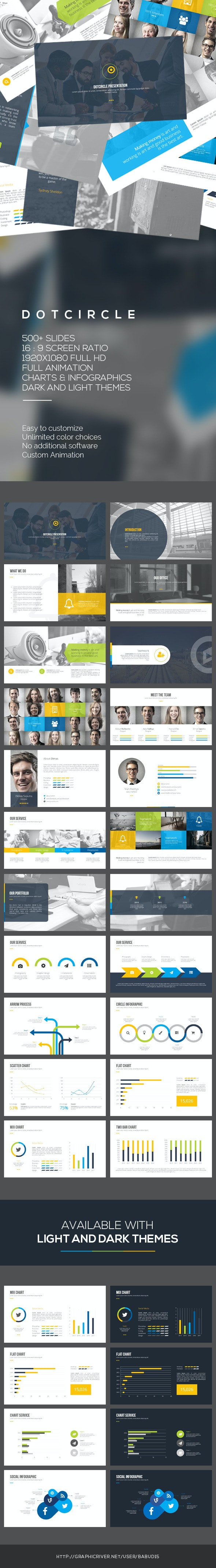 Dotcircle PowerPoint Template - PowerPoint Templates Presentation Templates