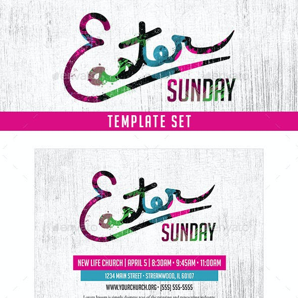 Easter Sunday Church Template Set - Pastel
