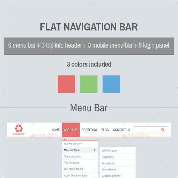 Flat Navigation Bar