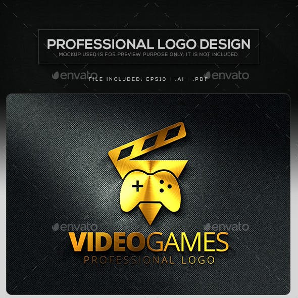 Video Games Logo Template