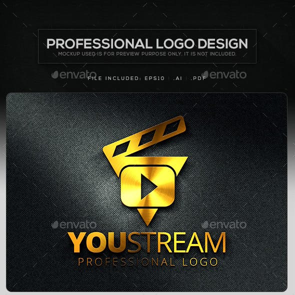 You Stream V.2 Logo Template
