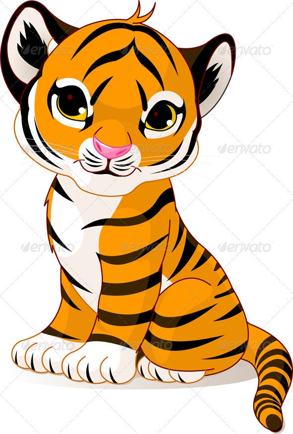 Cute tiger cub - Animals Characters