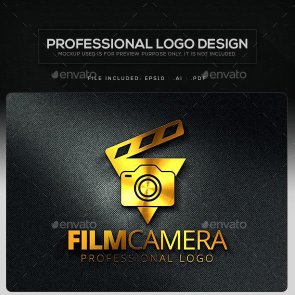 Film Camera Logo Template