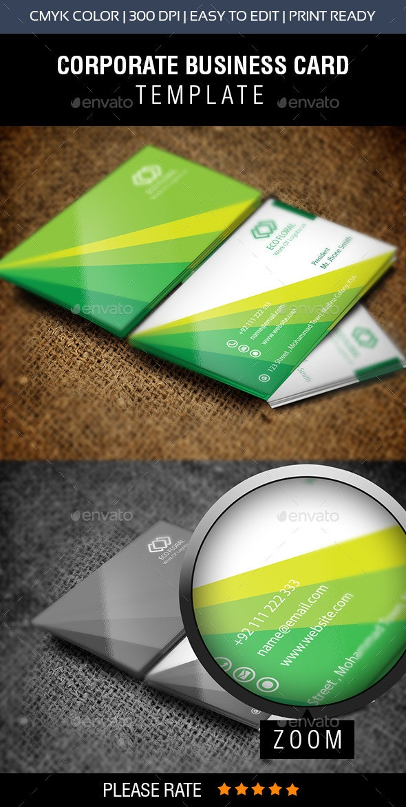 Green & Eco Fair Business Card - Corporate Business Cards