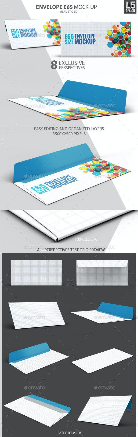Envelope E65 Mock-Up - Miscellaneous Product Mock-Ups