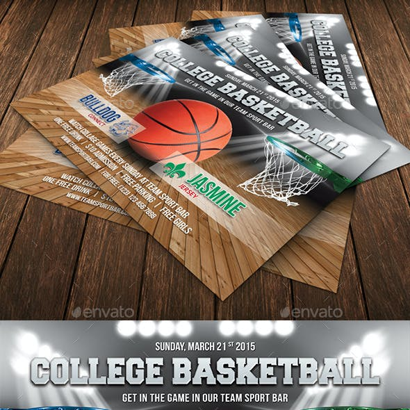 College Basketball Game Flyer Template 62