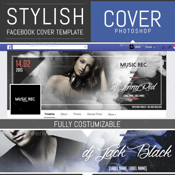 Elegant Party and Dj Facebook Cover Template