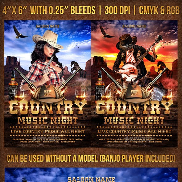 Country Music Night Fyer Template