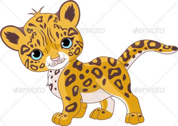 Cute Jaguar Cub - Animals Characters