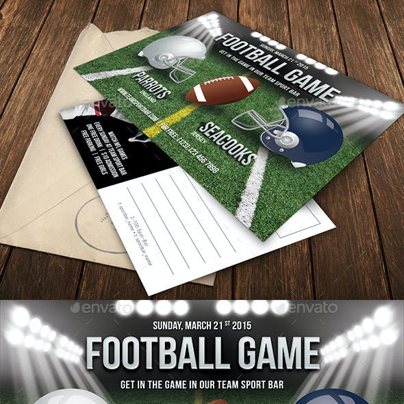 Football Game Party Invitation