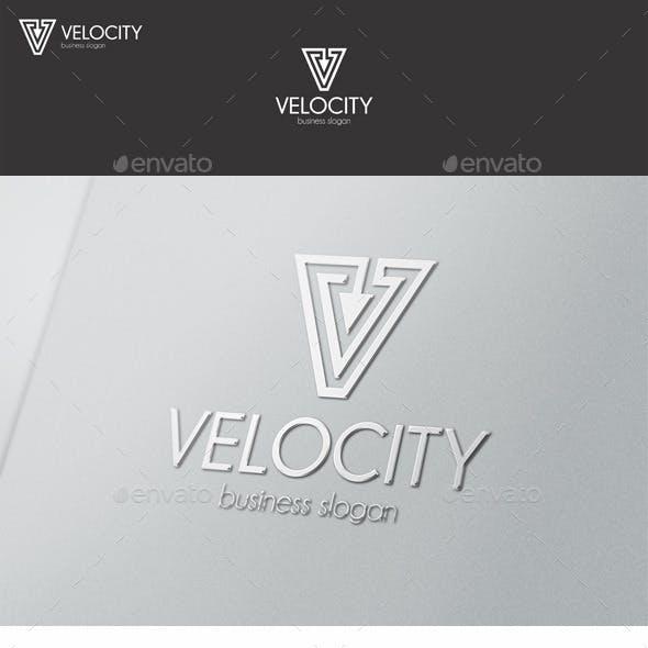 Velocity Vector - V Letter Logo
