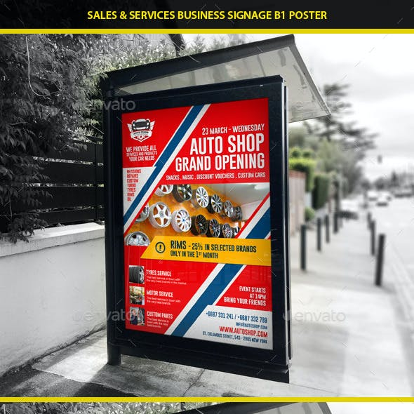 Agency & Shop Grand Opening B1 Poster