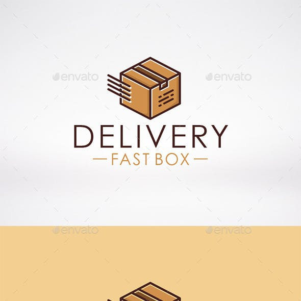 Fast Box Delivery Logo Template