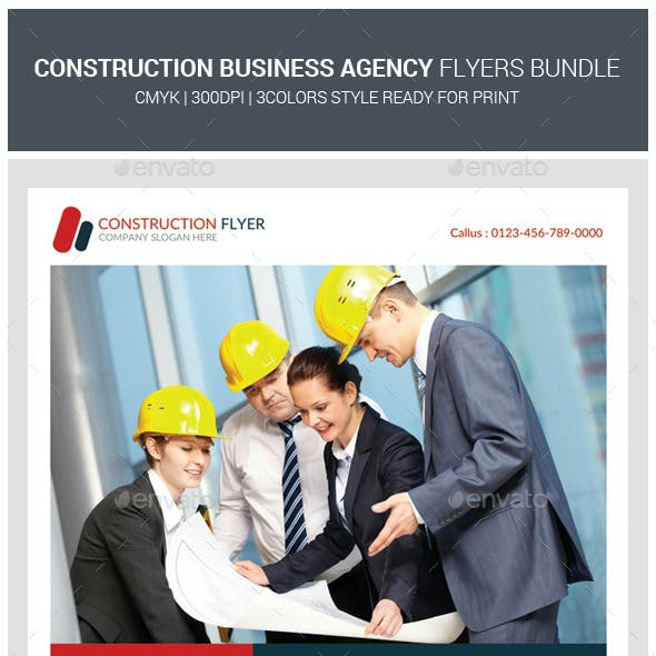 Construction Business Flyers Bundle