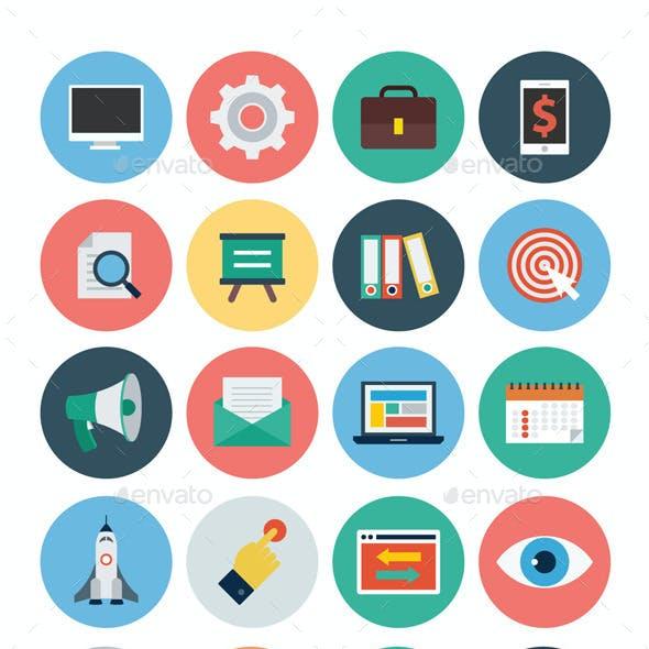 125+ Seo and Marketing Flat Icons