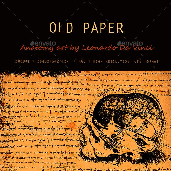 Old Anatomy Art Texture 0111