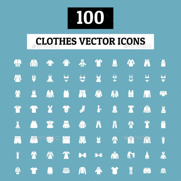 100 Clothes Vector Icons