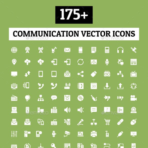 175+ Communication Vector Icons