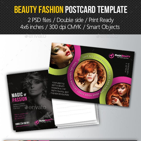 Beauty Fashion Postcard V02