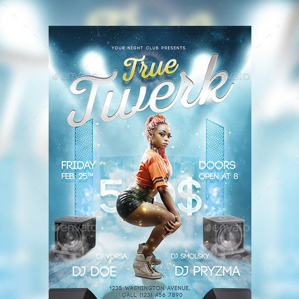 True Twerk Party Flyer / Poster