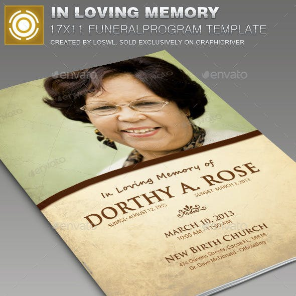In Loving Memory Funeral Program Template 005