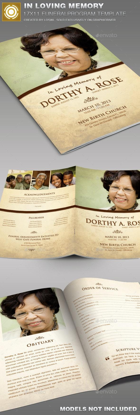 In Loving Memory Funeral Program Template 005 - Informational Brochures
