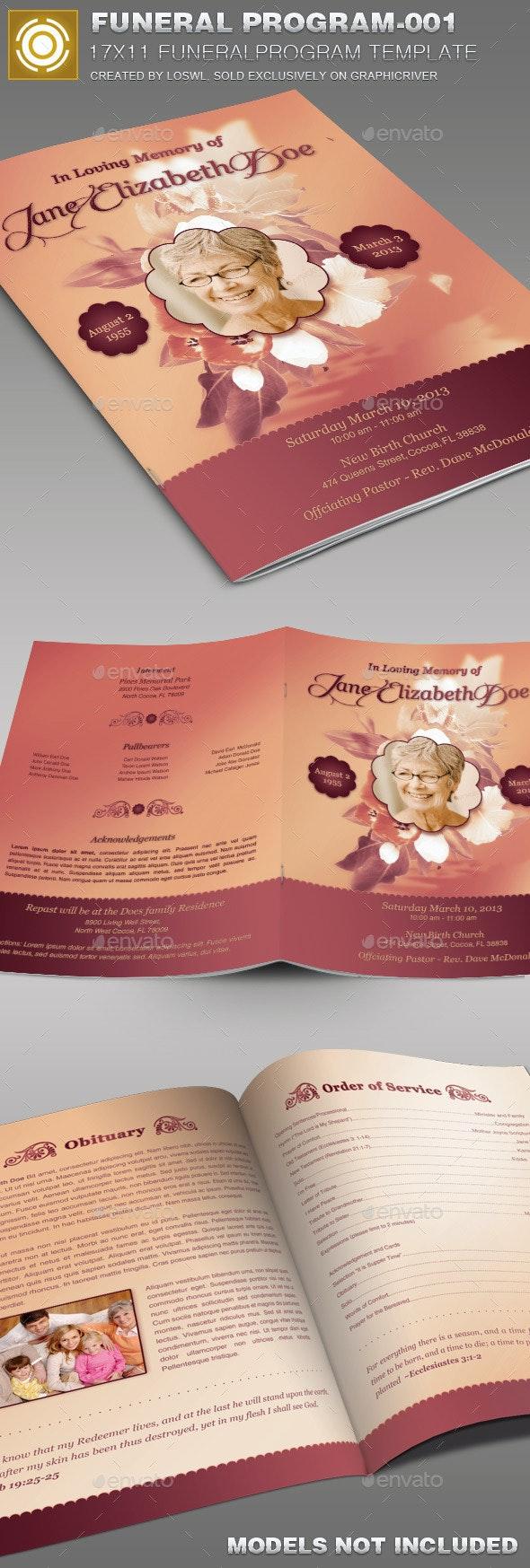 Funeral Program Template-001 - Church Flyers