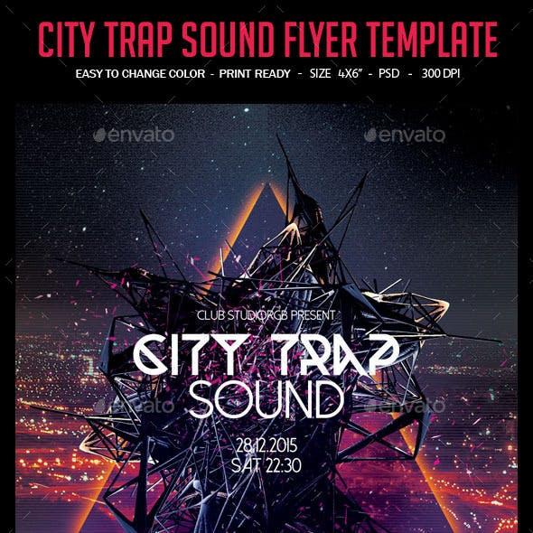City Trap Sound Flyer Template